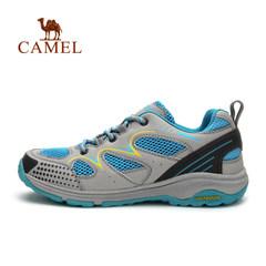 【断码清仓】CAMEL骆驼户外徒步鞋 女款透气网布低帮越野徒步鞋
