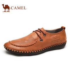 Camel骆驼男鞋复古透气手工男鞋春春季舒适休闲皮鞋旗舰店