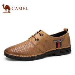 Camel 骆驼男鞋 春季 韩版潮鞋牛皮 耐磨舒适 日常休闲男鞋