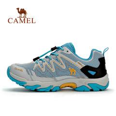 【断码清仓】骆驼户外徒步鞋女款 春夏透气减震低帮出游徒步鞋