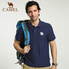 CAMEL骆驼户外休闲T恤 2015春夏上新男款纯翻领短袖徒步休闲T恤