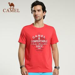CAMEL骆驼户外男款速干圆领短袖T恤 2015夏季款透气快干T恤正品