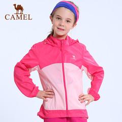 CAMEL骆驼户外皮肤衣 春夏上新青少年儿童款防风带帽遮阳皮肤衣