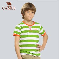 CAMEL骆驼户外童款休闲T恤 春夏上新青少年儿童款透气棉短袖T恤