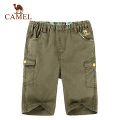 CAMEL骆驼户外童款休闲短裤 2015新款青少年儿童短裤舒适五分裤子