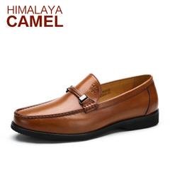 【特价清仓】HIMALAYA骆驼男鞋 商务休闲牛皮套脚春季休闲男鞋
