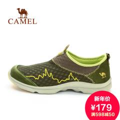 Camel骆驼户外男徒步网鞋 旗舰店春季透气网布防滑耐磨鞋