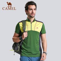 CAMEL骆驼户外男款速干立领T恤 2015款透气快干短袖速干衣  正品
