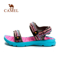 CAMEL骆驼户外男女沙滩鞋 魔术贴提花织带耐磨情侣沙滩鞋