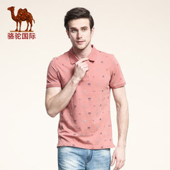 camel骆驼 新款时尚休闲短袖T恤 男士翻领男款T恤男