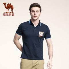 Camel骆驼 款短袖T恤男Polo衫 衬衫领纯色t恤修身短T