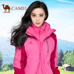 【范冰冰同款】骆驼户外冲锋衣 男女三合一两件套防水透气冲锋衣