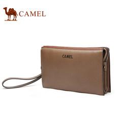 Camel骆驼男包牛皮横款男士手拿包大容量手包男商务休闲手抓包包