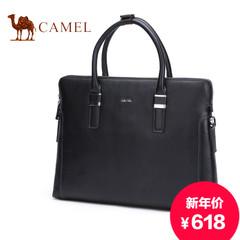 Camel/骆驼男士商务休闲公文包手提包皮横款男包头层牛皮电脑包