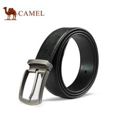 camel骆驼皮带 男士皮带牛皮皮带针扣腰带商务时尚百搭裤腰带男