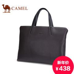 骆驼正品男士手提包商务休闲包横款真皮男包斜跨公文包牛皮单肩包