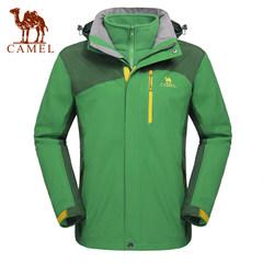 Camel骆驼户外冲锋衣 男款防风保暖三合一 两件套抓