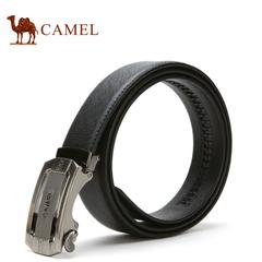 camel骆驼皮带 男士牛皮皮带  商务时尚自动扣腰带裤带正装皮带