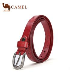 【清仓】Camel骆驼牛皮女士皮带时尚休闲合金针扣女腰带裤带夏