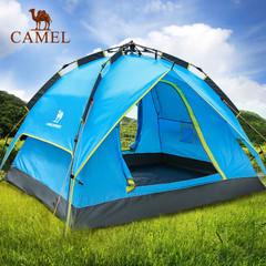 骆驼户外全自动帐篷 3-4人 野外露营防雨双层休闲户外帐篷正品