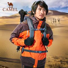 【2015新品】骆驼户外冲锋衣防风两件套三合一抓绒冲锋衣男女款