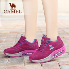 Camel骆驼女鞋 日常休闲女鞋运动休闲磨砂皮女单鞋跑步鞋休闲鞋女