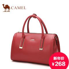 Camel/骆驼新款波士顿包夏款简约手提牛皮包单肩手提斜挎枕头包