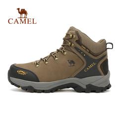CAMEL骆驼户外登山鞋 情侣款防滑耐磨头层牛皮高帮登山正品