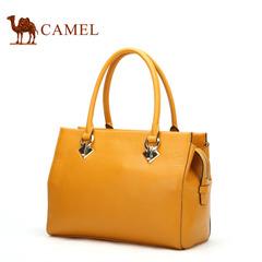Camel/骆驼女包 新款女士手提包牛皮 欧美潮流皮包女款简约休闲包