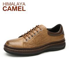 喜马拉雅骆驼冬季百搭潮鞋 潮流真皮系带男鞋 日常休闲皮鞋低帮鞋