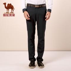 Camel/骆驼男装 微弹中高腰 修身长裤 小脚工装裤 休闲裤 男