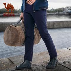 佟大为同款Camel/骆驼男装 裤子微弹长裤修身小直脚休闲男裤