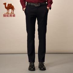Camel/骆驼男装 中腰直筒长裤 商务休闲修身休闲裤男裤子