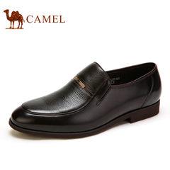 Camel/骆驼男鞋商务正装 新款舒适耐磨套脚德比鞋男士皮鞋爸爸鞋