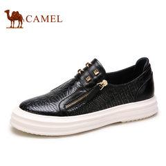 Camel/骆驼男鞋 春季日常时尚潮流鳄鱼纹牛皮套脚男鞋