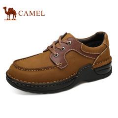 CAMEL骆驼男鞋新品真皮头层牛皮休闲鞋男舒适系带鞋潮鞋