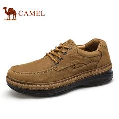 【爆卖4000双】骆驼男鞋季休闲皮鞋真皮品质男鞋子磨砂皮男士皮鞋
