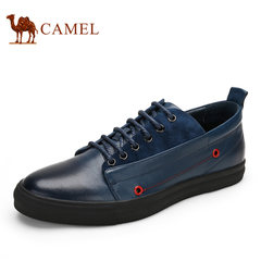 CAMEL骆驼男鞋新品男士真皮休闲鞋韩版系带日常休闲鞋子板鞋