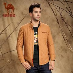 Camel/骆驼男装 微弹立领开衩长袖衬衫 青春流行棉质纯色衬衫 男