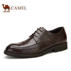 Camel/骆驼男鞋商务正装牛皮系带 男鞋春季耐磨 男士皮鞋子