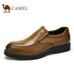 Camel/骆驼男鞋 春季打蜡牛皮商务正装套脚鞋 男士商务皮鞋子