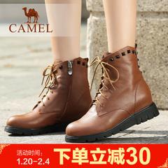 camel骆驼短靴 时尚百搭简约时尚铆钉女靴女鞋