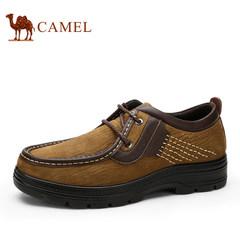 CAMEL骆驼男鞋新款舒适日常休闲皮鞋男士大码圆头系带休闲鞋