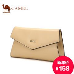 骆驼正品女士手拿包时尚信封包欧美休闲手抓包横款单肩包牛皮女包