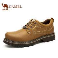 【新款】Camel/骆驼工装鞋 秋季款真皮耐磨系带男鞋大头鞋