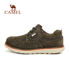 Camel骆驼户外鞋反绒皮鞋轻便耐磨系带真皮休闲男鞋 正品
