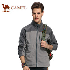 CAMEL骆驼户外抓绒衣新品冲锋衣内胆男 加厚开衫摇粒绒外套