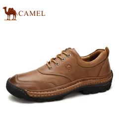 CAMEL骆驼 男鞋新品真皮日常休闲皮鞋男士英伦风系带鞋