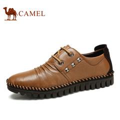 Camel/骆驼 春季男鞋 时尚都市金属装饰圆头休闲皮鞋