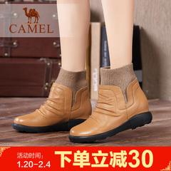 camel骆驼短靴加绒棉靴冬季女鞋时尚女鞋女靴子